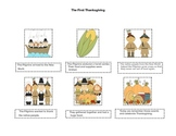 The First Thanksgiving Pictures and Sentence Sequence Freebie