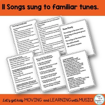 Thanksgiving Play or Readers Theater and Songs with Literacy Activities