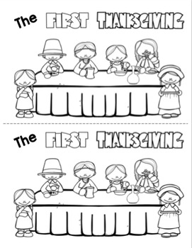 The First Thanksgiving Printable Booklet