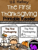 The First Thanksgiving Printable Reader {Kindergarten/Firs