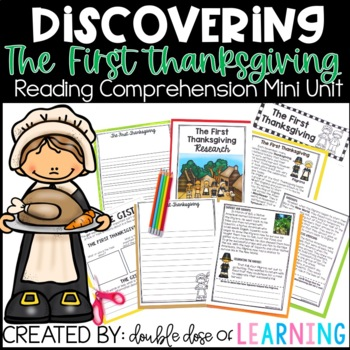 The First Thanksgiving Reading Comprehension mini unit