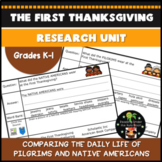 The First Thanksgiving Research Unit - Pilgrims and Native Americans - Print