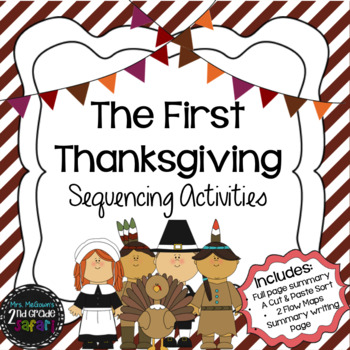 The First Thanksgiving Sequencing Activities