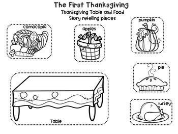 The First Thanksgiving  Story Retelling Puppets & Mgnetic Board Pieces