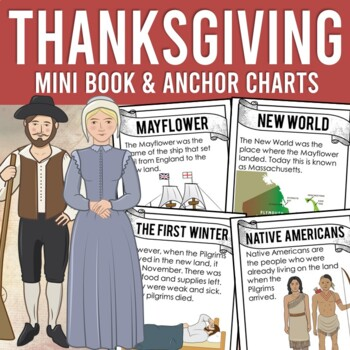 The First Thanksgiving: Story Anchor Charts, Student Booklet