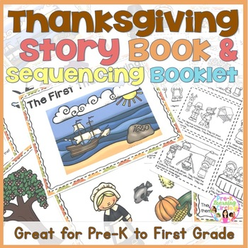 The First Thanksgiving Story Book & Take Home Sequence Booklet