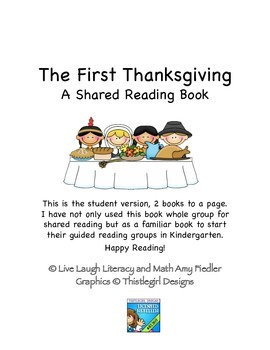The First Thanksgiving- Student Version- A Shared Reading Book