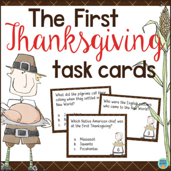 The First Thanksgiving Task Cards