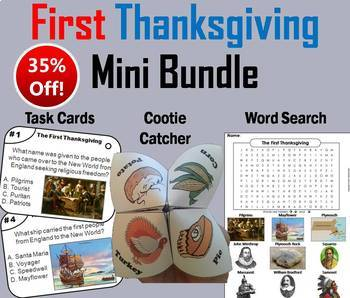 The First Thanksgiving Task Cards and Activities Bundle