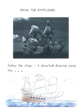The First Thanksgiving - The Mayflower - A directed drawing