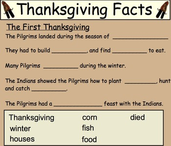 The First Thanksgiving Unit