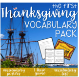 The First Thanksgiving Vocabulary Pack!!