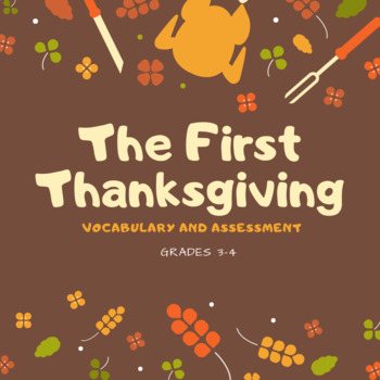 The First Thanksgiving Vocabulary and Quiz