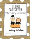 The First Thanksgiving Webquest
