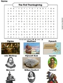The First Thanksgiving Word Search