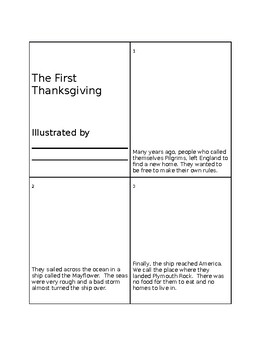 The First Thanksgiving mini-book