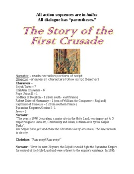 The First Three Crusades Roles play scripts