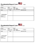 The First Three Presidents Report Card Exit Slips - Washington