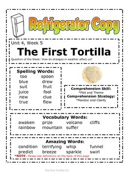 The First Tortilla Reading Street 2nd Grade Unit 4 Story 5 ...