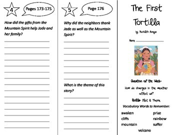 The First Tortilla Trifold - Reading Street 2nd Grade Unit