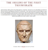The First Triumvirate Cloze Activity (History of Rome)
