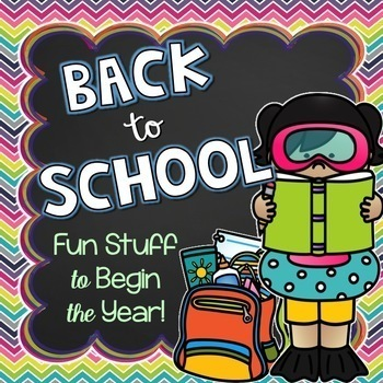 First Week of School: Read-Aloud Activities and Other Fun Stuff