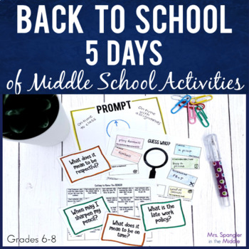 Back to School for Middle School: 1 Week Tried & True Activities!