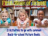 The First Week of School {Activities used with Back to School Picture Books}