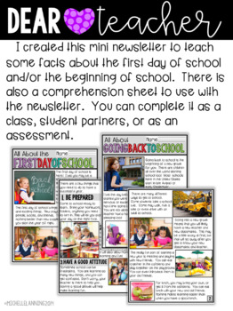 The First Week of School Activity Fun {activities for the first week of school}