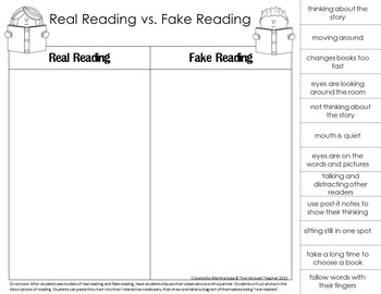The First Week of School: Establishing a Reading Culture
