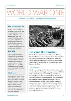 The First World War: Part One
