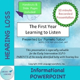 Recorded Powerpoint: The First Year of Listening Distance