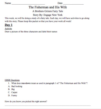 The Fisherman and His Wife- Engage New York Story Version