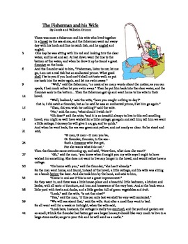 The Fisherman and his Wife - Literary Text Test Prep