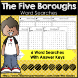 The Five Boroughs of New York City Word Searches by Mrs Davies
