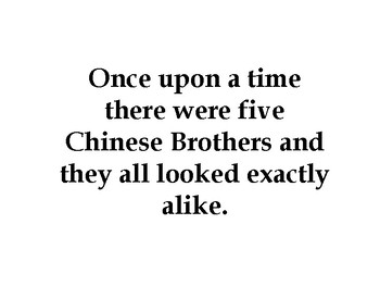 Readers Theatre: The Five Chinese Brothers by Claire Huchet Bishop & Kurt Wiese