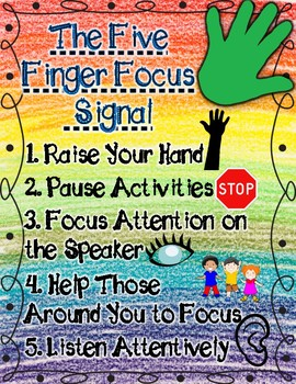 The Five Finger Focus Signal