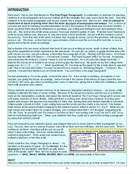 The Five Finger Paragraph© -- HomeSchool-HomeStudy Kit (Gr. K-12)