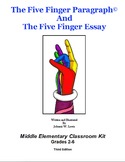 The Five Finger Paragraph© -- Middle Elementary (Gr. 2-6)
