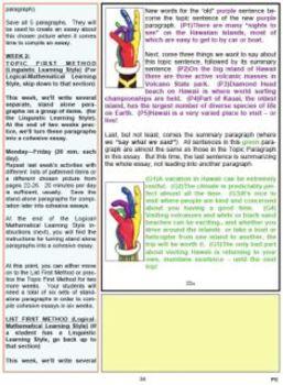 The Five Finger Paragraph and The Five Finger Essay -- Prim Elem T. Ed Sample