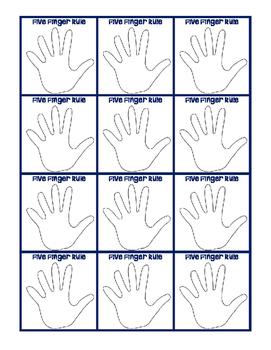 The Five Finger Rule Freebie