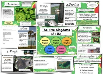 Five Kingdoms of Life - Science Unit