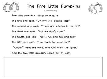 The Five Little Pumpkins