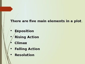 The Five Main Elements In A Plot