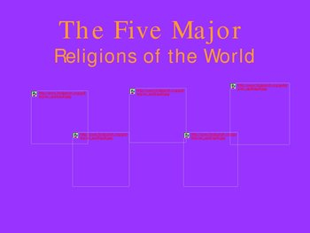 The Five Major Religions - ... by Mrs. Elitzin | Teachers Pay Teachers