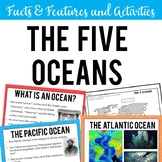 The Five Oceans: Facts & Features Slide Show, Flip Book, Activities, Assessment