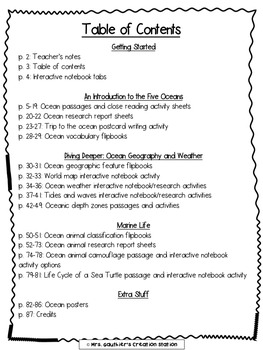 The Five Oceans - Integrated Science and Literacy Unit (Common Core-Aligned)