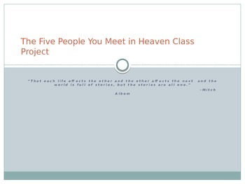 The Five People You Meet in Heaven Group Project