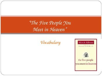 The Five People You Meet in Heaven Vocabulary