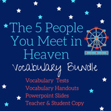 The Five People You Meet in Heaven- Vocabulary Master List (Teacher's Copy)